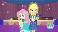 Applejack and Fluttershy as show hosts EGDS35
