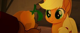 Applejack smiling at Capper's offering MLPTM