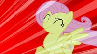 Fluttershy being blown by the scream S1E17
