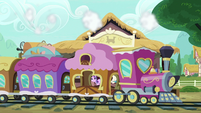 Friendship Express pulls into the station S7E24
