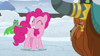 Pinkie Pie grinning at Gummy S7E11