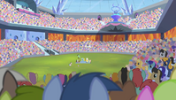 Stadium crowd stricken with silence S4E24
