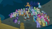 Twilight addresses Rockhoof before the students S8E21