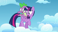 Twilight and Spike see bag gone S5E26