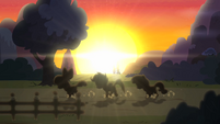 CMC running with sunset in the background S4E05