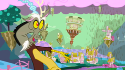 """Discord, """"First changes of Ponyville"""" S02E02.png"""