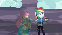 Fluttershy looks away from the coaster EGROF