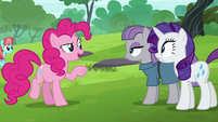 Pinkie Pie --you guys wanna ride the swans-- S6E3