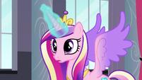 Princess Cadance using her magic S5E10