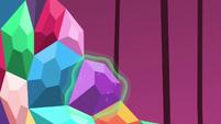 Purple jewel placed by magic S5E10
