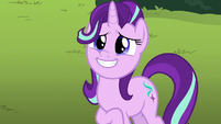 Starlight Glimmer grinning with hope S9E20
