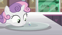 Sweetie Belle looks at Filly Clown Surprise S7E6