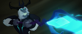 The Storm King attacking Tempest Shadow MLPTM