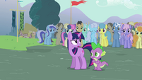Twilight and Spike arrives S3E05