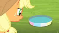 Applejack looking at pan of water S4E20
