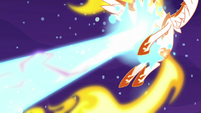 Daybreaker gets hit by Nightmare Moon's magic S7E10