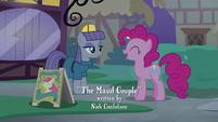 Pinkie laughing at Maud's comedic timing S8E3