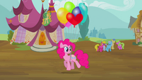 Pinkie with balloons S2E20