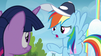 """Rainbow """"you can't mess with a flyer's confidence!"""" S6E24"""