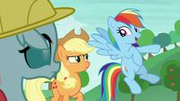 "Rainbow Dash ""last one to the stream"" S8E9"