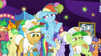 Rainbow Dash shrugs with embarrassment S8E5