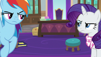 Rainbow and Rarity don't want to work together S8E17