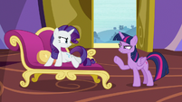 Rarity offended by Twilight's accusation S9E19