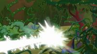 Star Swirl's magic blasting the vines S9E2