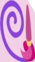 Paintbrush and purple spiral