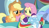 Applejack tries consoling Rainbow again S5E5