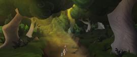Mane Six and Spike trek through a forest MLPTM