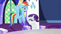Rarity -hints of gold to complement their horns- S7E11