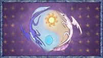 S01E01 Luna i Celestia witraż
