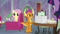Smolder looking embarrassed S9E9