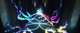 Storm King draining the princesses' magic MLPTM