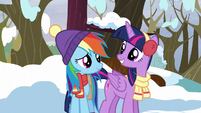 """Twilight and Rainbow """"ready for some winter fun?"""" S5E5"""