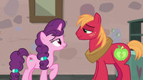 Big Mac and Sugar Belle smile at each other S7E8