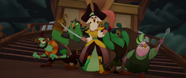 Captain Celaeno and her crew ready to fight MLPTM