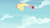 Fluttershy flipping through the air S9E15