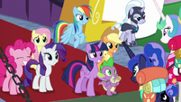 Mane Six left in charge of the castle S9E13