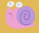 Pink frowning snail
