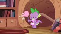 Spike cleaning the library S4E03