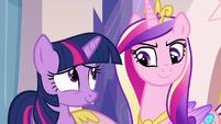 Twilight and Cadance smiling S03E12