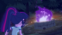 Flames in the fire pit turn purple EG4