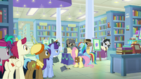 RD causing a scene at Martingale's book signing S9E21