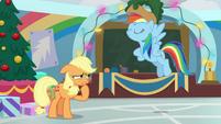 Rainbow Dash wearing Applejack's hat BGES1