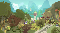 Rarity and Old Gardener in the ruined village S7E25