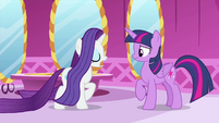 Rarity loudly clearing her throat MLPS1