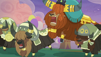 Rutherford and yaks stomping with joy S9E26