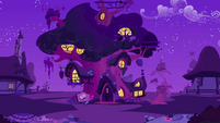Twilight's Library at night S2E16